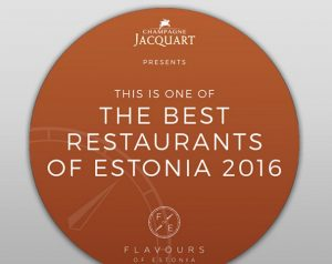 The Best restaurants of Estonia 2016